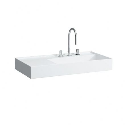 810339 - Laufen Kartell 900 x 460mm Washbasin with Left Shelf - 8.1033.9